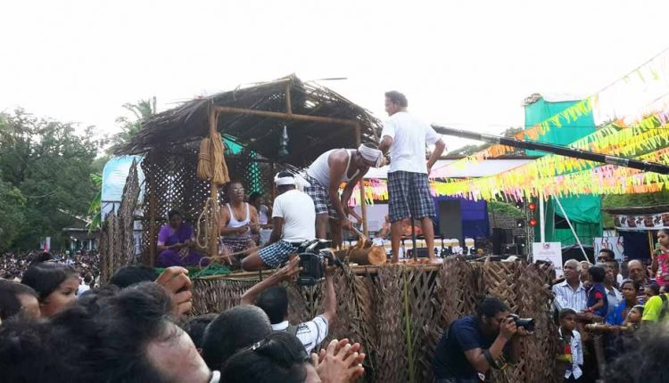 float-showing-people-making-coconut-tree-items