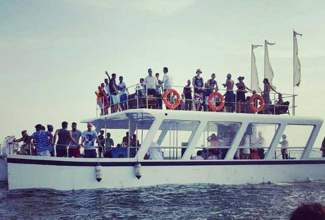 Party Adventure Cruise in Goa - Party Boat Trip - kayaking, Dolphin, Snorkeling